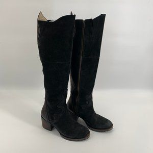 Freebird by Steven Feugo Black Suede Tall Boots